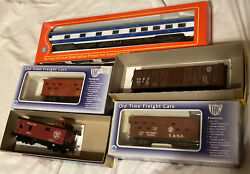 5 Ho Train Car Lot Still In Boxes Old Timer Caboose Freight Colorado Eagle Pass.
