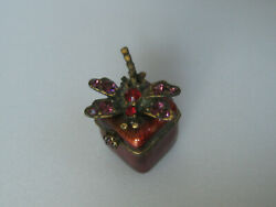 Jay Strongwater Trinket Box With Crystals - Dragonfly Design