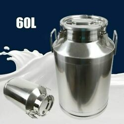 60l Milk Can Oil Water Airtight Bucket Liquid Seal Storage Container Commercial