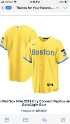 Mlb Boston Red Sox City Connect Replica Baseball Jersey Size Xl New