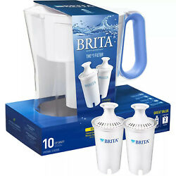 Brita Large 10-cup Water Filter Pitcher With 2 Standard Filters-hot Sale
