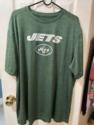New York Jets Green Shirt Majestic Cool Base Evolution Tee Menandrsquos Size 2xl