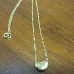 And Co. 18 Gold Necklace Bean 18k 750 Beans From Japan Fedex No.4581