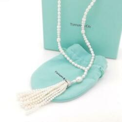 And Co. Extremely Rare Ziegfeld Pearl Tassel Necklace Uz15 No.4607