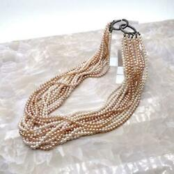 And Co. Torsade Pearl Necklace Sv From Japan Fedex No.4990