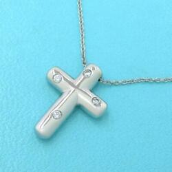 And Co. Dotz Cross Necklace Diamond 4p Rank Previously Owned No.5178