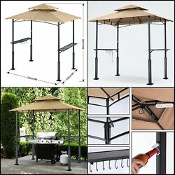 Premium Gazebo Roof Only 8x 5 Grill Shelter Bbq Cover Backyard Canopy Led Light