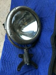 Early Vintage Gray And Davis B3 Spot Search Light Glass Lens Car Fire Truck Old