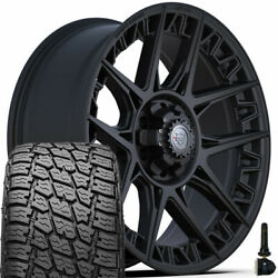 4play Wheels 4ps50 20x9 And 275/60r20 Terra Grappler Set For Ram Chevy Gmc Ford