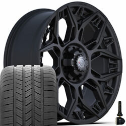4play Wheels 4ps60 20x9 And 275/55r20 Goodyear Set For Ford Chevy Gmc Ram