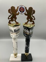 Modelo Especial And Negra Dual Draft Beer Tap Handle Set New In Box