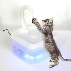Automatic Cat Water Fountain Led Water Dispenser Cats Drinking Bowl Faucet