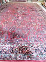 12and039x20and039 Palace Size Antique Sarouk Oriental Rug.