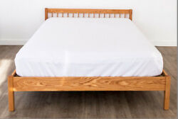 Solid Wood Platform Bed Frame Headboard Ranch Oak Maple Hand Crafted Usa