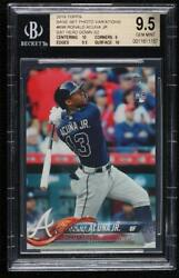 2018 Topps Late Variation Ronald Acuna Jr Bat Down Sp 698.2 Bgs 9.5 Rookie
