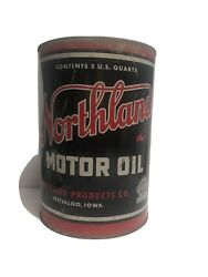 Northland 5 Quart Motor Oil Can - Gas And Oil Empty Waterloo Ia.