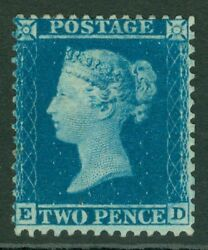 Sg 34 2d Blue Plate 5 Perf 14. A Fine Lightly Mounted Mint Example With Good...