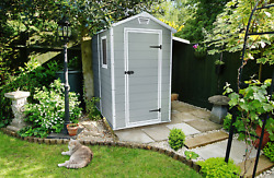 Keter Manor 4' X 6' Resin Storage Shed, All-weather Plastic Outdoor Storage
