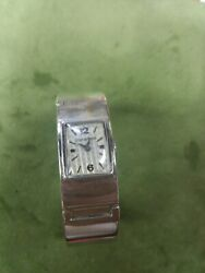 17j 0.800 Silver Bracelet Bangle Watch Old But I Don't Know How Old 40 Or 50