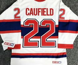 Vintage-youth-s/m Cole Caufield Montreal Canadiens 3rd White Ccm Hockey Jersey