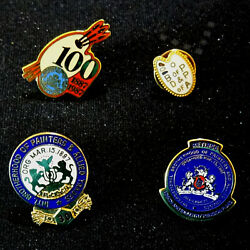 Four Brotherhood Of Painters Decorators Allied Trades Pins, Retiree And 30-year