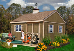 Best Barns New Castle Wood Shed Kit - 12and039x16and039 Opt. Floor/no Floor