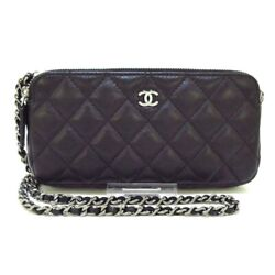 Auth Matelasse A82527 Black Lambskin Other Style Wallet