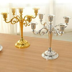 Table Candlesticks Candelabra Party Wedding Dining 5-arm Candle Holder 26.527cm