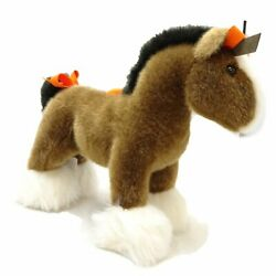 Mint Authentic Hermes Pony Hermy Pm Plush Horse Brown White Brown White/ 049966