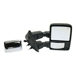 Tow Mirror For 2013 2014 Ford F-150 Passenger Side Power Fold Heated Memory