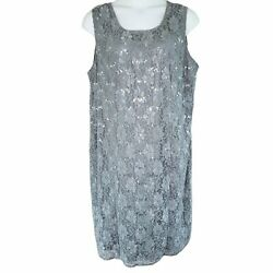 Woman Within Size 26W Silver Evening Summer Work Sleeveless Dress $17.90