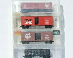 New Haven, Cnj. Set Of 4 X N Scale Kadee And Micro Trains Freight Cars.