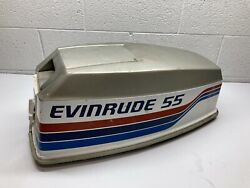C1 Evinrude Omc Johnson 55 Hp Outboard Boat Motor Hood Cowl Cover Cowling 1977