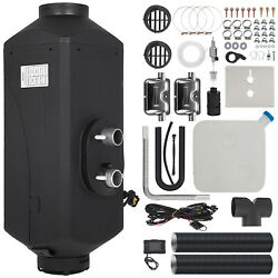 12v 5kw Air Diesel Heater 1 Holes + 2 Silencers Lcd Switch For Car Truck Black
