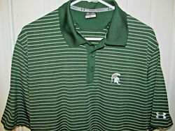 Michigan State Spartans Polo Shirt - Under Armour Adult Large