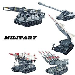 Military Tank Building Blocks Missle Armored Vehicle Tractor Bricks 3d Model Toy