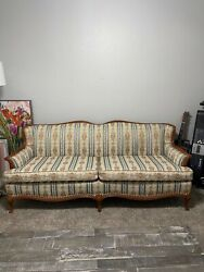 Antique Hickory Couch Queen Anne Style