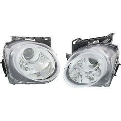 Headlight Set For 2015 2016 2017 Nissan Juke Left And Right With Bulb Capa 2pc