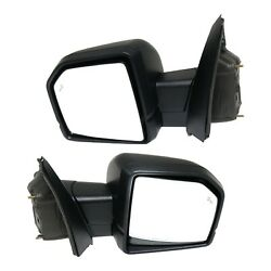 Mirror Set Of 2 For 2015-2018 Ford F-150 With Blind Spot Primed With Memory