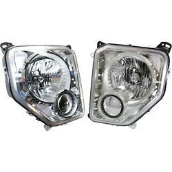 Headlight Set For 2008-2012 Jeep Liberty Left And Right With Bulb Capa 2pc