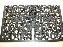 Vintage 1800's Cast Iron Fireplace Surround Grate 20 1/2 X 13 - Very Ornate