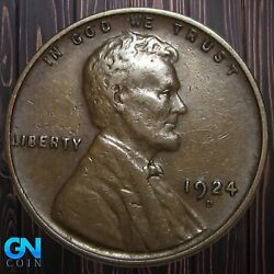 1924 D Lincoln Cent Wheat Penny -- Make Us An Offer K5844