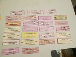 25 Jukebox Strips Lot Tom Jone Ray Conniff Mills Brothers Platters Mitch Miller+