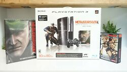 Sony Playstation 3 Ps3 80gb Metal Gear Solid 4 Console Backwards Ceche01 Mg Box