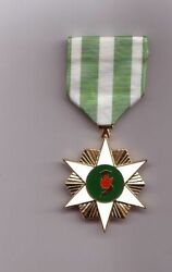 Vietnam Campaign Medal With Green And White Ribbon Drape