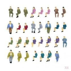 200 Painted Seated People Figures Passengers Train Diorama Layout 150 O Scale