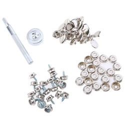 62pcs Boat Canvas Fabric Snap Cover 3/8 Screw Button Socket Fastener Kit