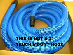 Carpet Cleaning - Blue 50and039 Crush Proof Vacuum Hose 1.5