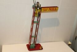 Vintage Early Wolverine Bowler Andy Mill Marble Toy Tin Mechanical Toy Game