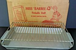 Vintage Miss Barbee -q Sol[d Cast Aluminum Portable Grill Camping Hunting Usa
